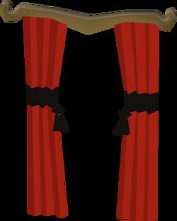 Opulent curtains built