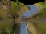 Emote clue - spin barbarian village bridge