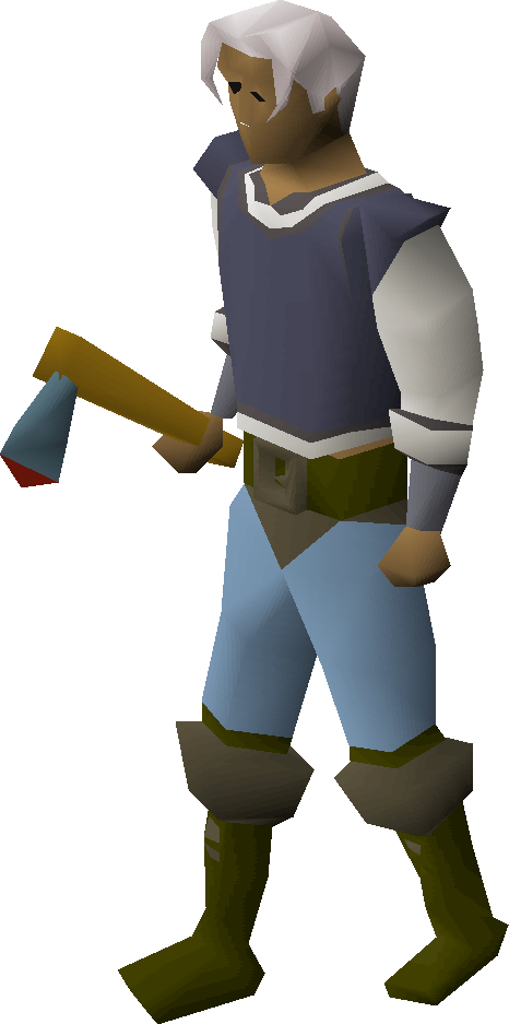 Rune axe equipped