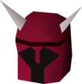 Dragon med helm detail