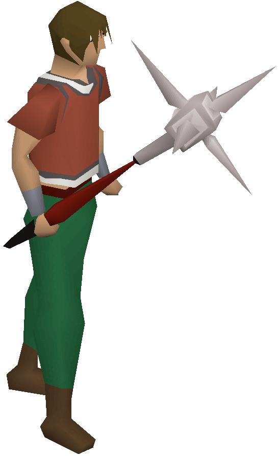 Anger mace equipped