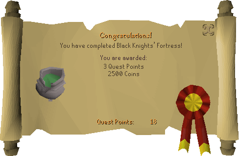 Black Knights' Fortress reward scroll