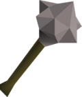 Steel mace detail