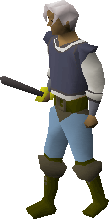 Iron sword equipped