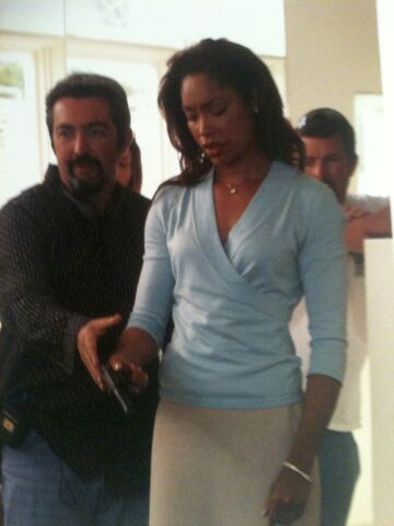 File:24 Day 3 Finale BTS Jon Cassar and Gina Torres.jpg