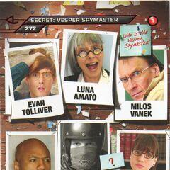 Suspect card for Vesper Five, The Spymaster (Card 272)