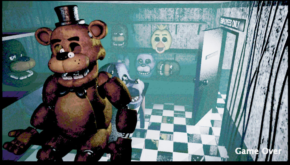 Backstage at freddy s five nights