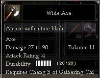 Wide Axe