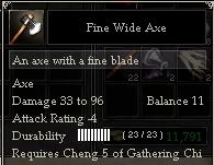 Fine Wide Axe