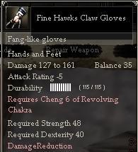 Fine Hawks Claw Gloves