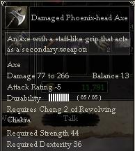 Damaged Phoenix-head Axe
