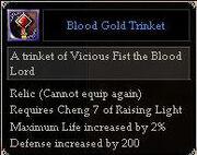 Blood Gold Trinket