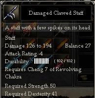 Damaged Clawed Staff