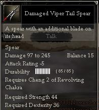 Damaged Viper Tail Spear