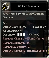 White Silver Axe