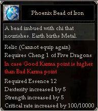 Phoenix Bead of Iron