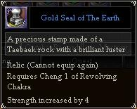 Gold Seal of The Earth