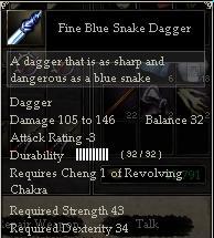 Fine Blue Snake Dagger