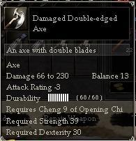 Damaged Double-edged Axe