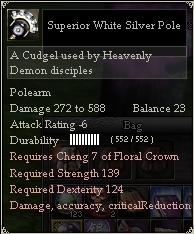 Superior White Silver Pole