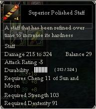 Superior Polished Staff
