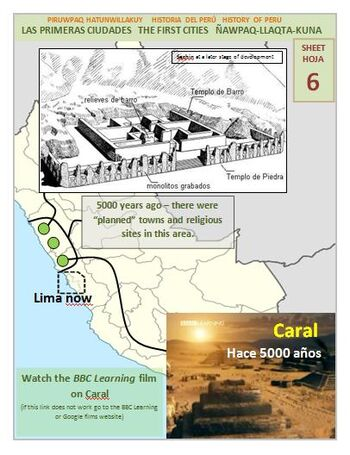 First towns from Sechin to Caral MFHP series 1 sheet 6