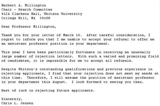 Sample Job Offer Rejection Letter Due To Personal Reasons - Cover ...
