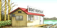 Boat rental shop