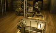 Trucy pushing the lift