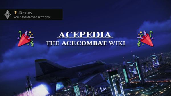 Acepedia 10th Anniversary Banner