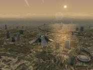 Port Edwards at dusk in Ace Combat 3