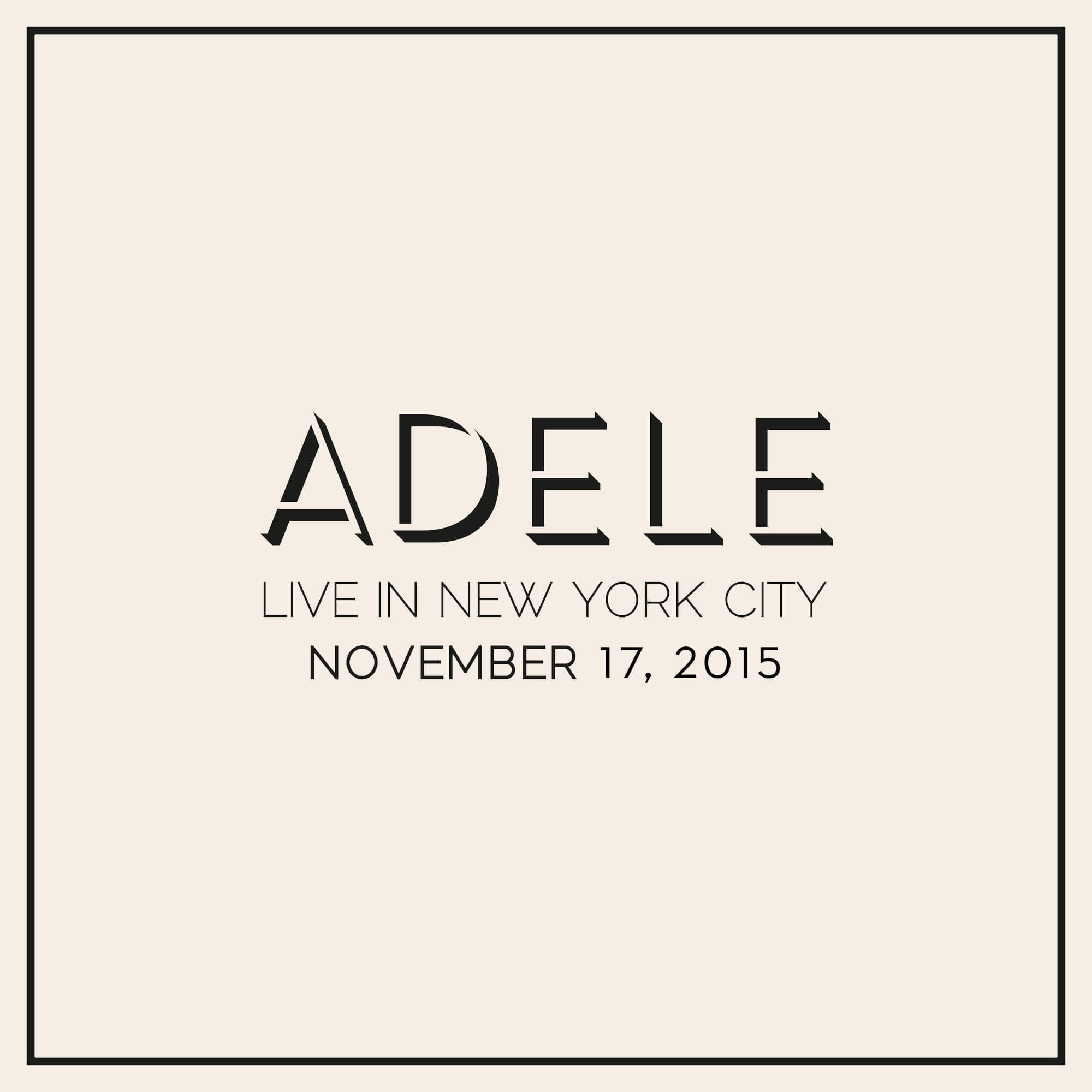 Adele Live Rolling In The Deep: Adele Live In New York City