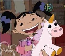 Haley and his plush unicorn