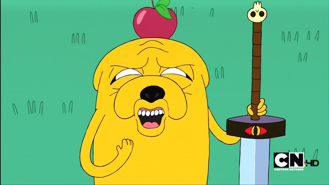 File:S1e4 Jake with Apple on head.png