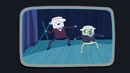 S6e22 Finn and Jake singing and dancing