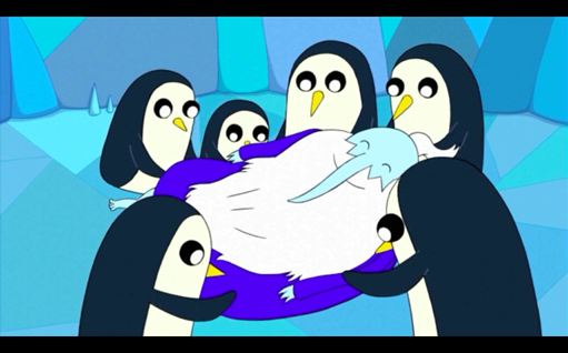 File:S1e3 penguins touching ice king.png