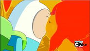 S4e16 Finn and Flame Princess kiss
