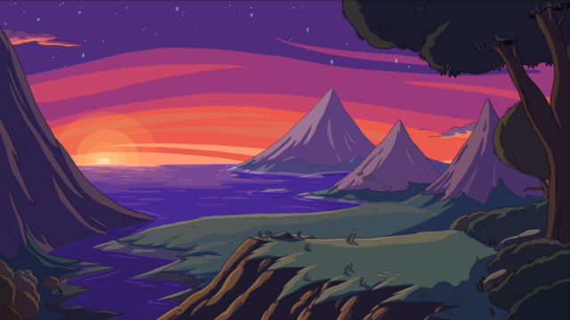 File:Mountain sundown.png
