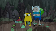 S4e23 Finn and Jake listening to elder