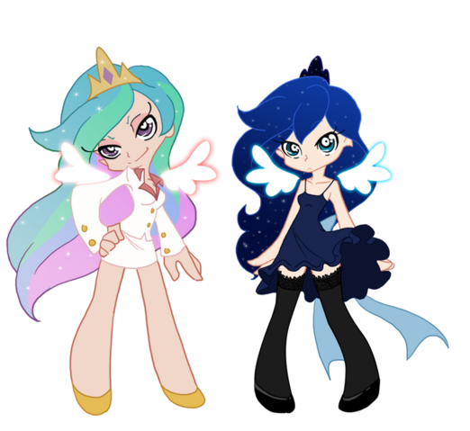File:Luna and celestia by puzzle of life-d4xwb06.png
