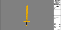 Glowing sword