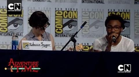"Donald Glover & Rebecca Sugar Sing ""Bad Little Boy"" SDCC 2013 Cartoon Network"