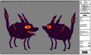 Modelsheet Fire Wolf Pup - Sunset Color