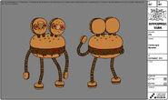 Modelsheet hamburgermonster