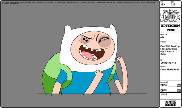 File:Modelsheet Finn with Beat Up Face & Swollen Eye - Special Color.png