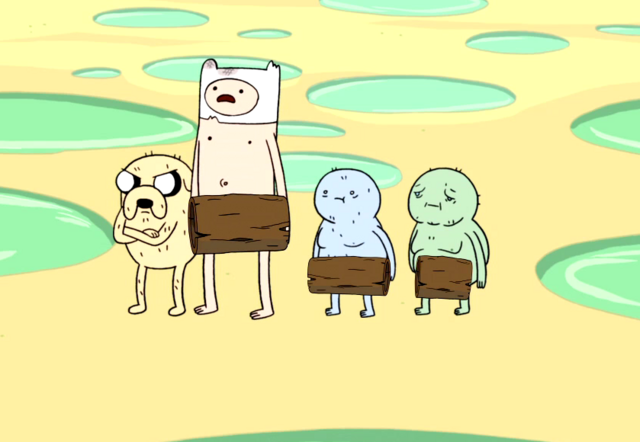 File:S1e11 Naked Finn and Jake with wizards.png