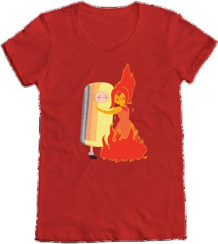 File:Finn and Flame Princess Hug T-Shirt.png