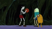S5 e14 Finn, Jake and Marceline playing basketball