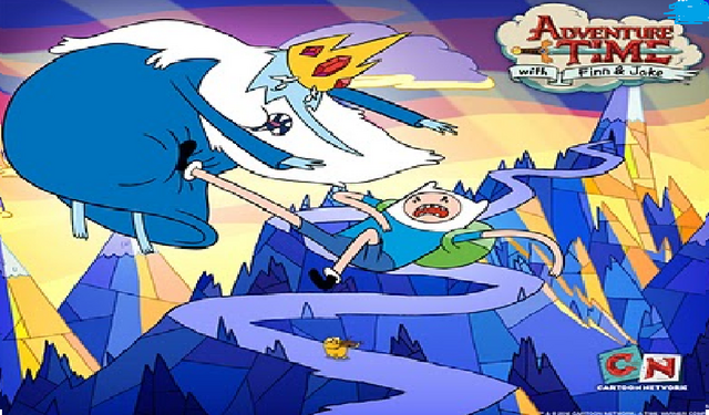 File:Adventure time finn kicked iceking.png