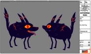 Modelsheet firewolfpup